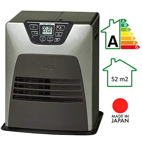 Zibro LC DX32 Elektrischer Brennstoffofen 3200 W, silberfarben, 21 m2-52 m2, ohne Installation, Thermostat, wöchentlich, Energieeffizienzklasse A]