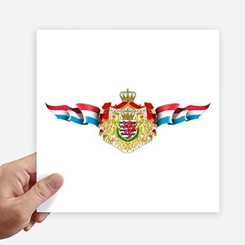 DIYthinker Luxemburgse vlag Nationaal embleem Vierkant Stickers 20Cm Muur koffer Laptop Motobike Decal 4 Stks