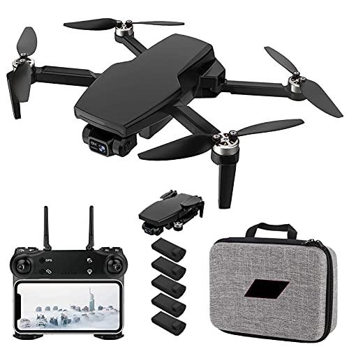 2021 Drone GPS con Fotocamera 4K per Adulti, Quadricottero RC a 2 Assi WiFi 5G con Video in Diretta FPV GPS Ritorno a casa Motore Senza spazzole Seguimi Tempo di Volo di 25 Minuti