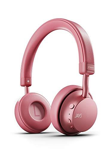 Jays a-Seven - Cuffie on-ear wireless con microfono integrato, Bluetooth, Qualcomm aptX, 25 ore di batteria, colore: Nero