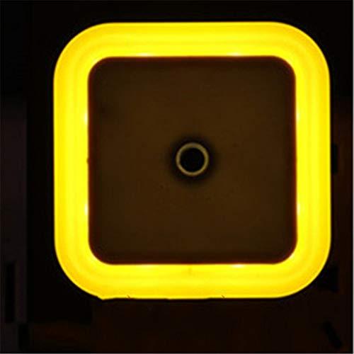 LED-Lichtsteuerung automatische Induktion Nachtlicht Mini-Energiespar-Plug-in-Nachtlicht Schlafzimmer Nachttischlampe LED-Lichtsteuerung gelbes Licht 2 regelmäßig