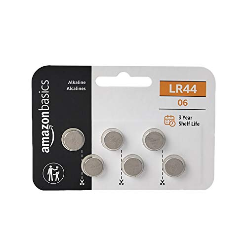 AmazonBasics LR44 Alkaline Button Cell, 6-Pack