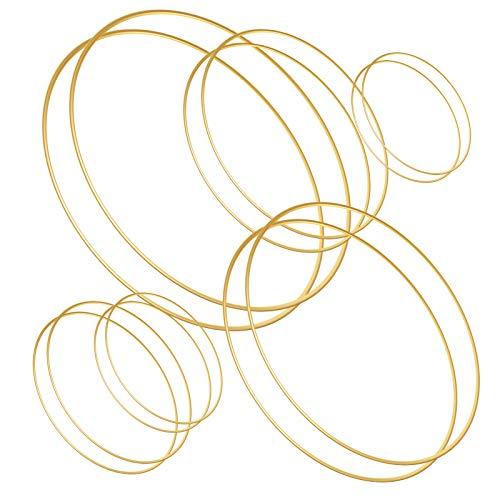 Sntieecr 12 PCS 6 tamaño Oro Aros de Metal, aro Floral para...