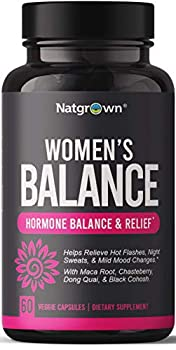 Hormone Balance for Women PMS & Menopause Relief Supplement for Fertility Hormonal & Menstrual Support - Helps Relief Hot Flashes - Maca Root Vitex Dong Quai & Black Cohosh Complex - Vegan Capsules