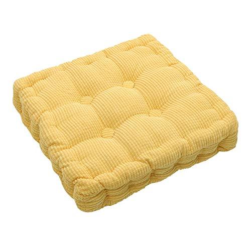 AINIYUE Sillón Alto Bolster Booster, Easy Rise Cushion, Adult Garden Dining Chair Sillón Cojín Booster, Thicken Seat Pad 45x45cm Amarillo