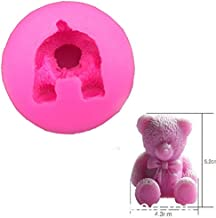 VHLL Cake Molds Cute Teddy Bear Shape Fondant Silicone soap Mold Kitchen Baking Chocolate Pastry Candy Clay Making Lace Decoration Tools FT-0121