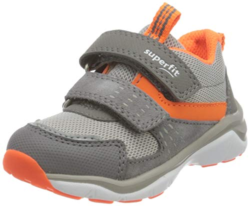 Superfit Jungen Sport5 Sneaker, HELLGRAU/ORANGE 2500, 31 EU