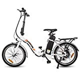 ECOTRIC 20' Folding Electric Bike Bicycle City EBike 350W Gear Rear Motor 36V/10AH Removable Lithium...