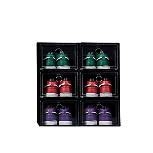 Caja de almacenamiento de zapatos grande, Caja de almacenamiento de zapatos AJ, Caja de zapatos plegable Cajas de zapatos de plástico apilables Organizador de zapatos para el hogar