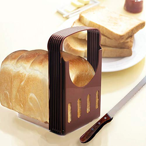 Bread Slicers For Homemade Bread,Bread Slicer Bread Machine,Toast Bagel Loaf Sandwich Slicer Cutter Great for The Baker and Housewife, Foldable and Adjustable Home Kitchen Accessories, Easy to Use