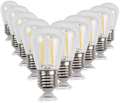Dekorative Glühbirnen Glühlampen 10 STÜCKE PAC KS14 Antike lampe LED Glühlampe Warmes Licht String Gartendekoration Kronleuchter Festzelt