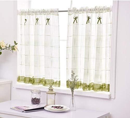 Yanmeng Badezimmerfenster Vorhang, Home-Bildschirme Halbkaffee Vorhang Küche Staubsicherer Balkon WC-PRITITION Vorhang, Größe: 140cmx70cm (grün) Yanmeng. (Color : Green)