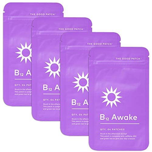 The Good Patch B12 Awake Patch with Plant-Based Ingredients, Supports Mental Alertness and Boosts Energy (4 Pack) (16 Patches)