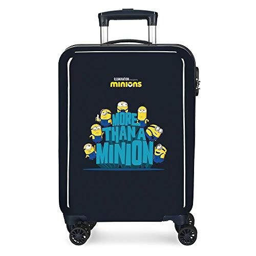 Minions We Are A Minion Maleta de Cabina Azul 37x55x20 cms Rígida ABS Cierre de combinación Lateral 34L 2,66 kgs 4 Ruedas Dobles Equipaje de Mano