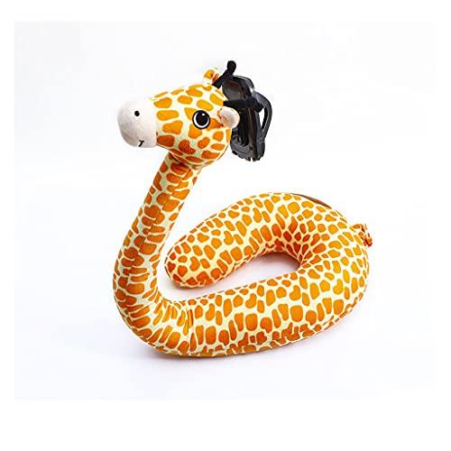 Almohada en forma de U para teléfono móvil, cuello de cisne, soporte ajustable para teléfono celular, base universal para hombre perezoso, manguera de látex (color: jirafa)
