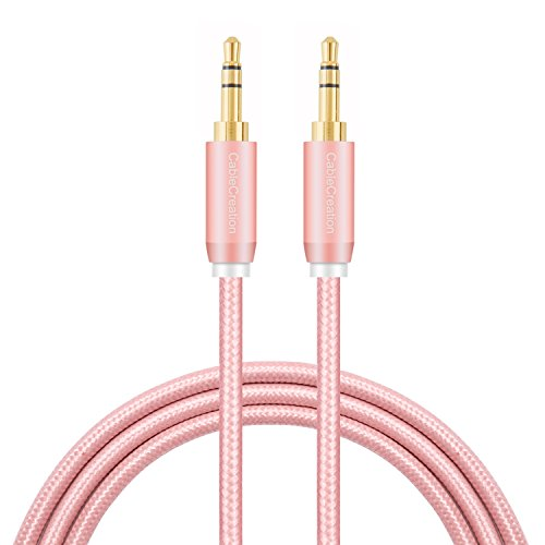 3.5mm Aux Cable, CableCreation 3.5mm Male to Male Stereo Auxillary Audio Cables, Compatible with LilGadgets Headphones, Smartphones, Home/Car Stereos & More, 3-Feet/ 0.9M