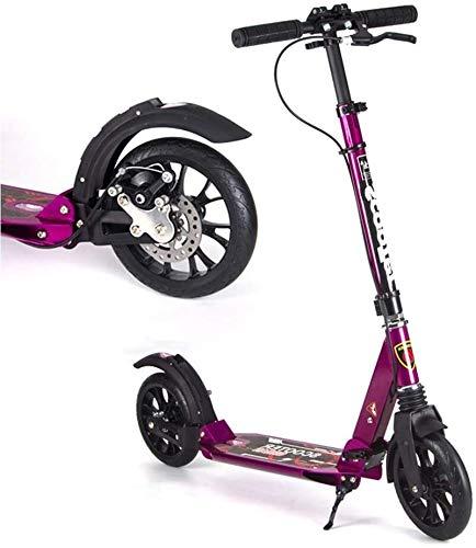 Scooter H- Patinete Kick Scooters De Patadas para Adultos con Frenos De Disco, Scooters De Cercanías Plegables con Ruedas Grandes, Regalos De Cumpleaños para Adultos/Adolescentes/Niños, hasta 150k