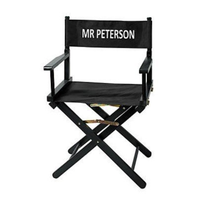 Personalized Director's Chair Film Play Hollywood Wood with Canvas Seat & Back