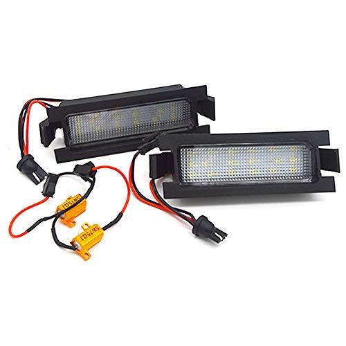 GZCRDZ 1 paire de feux de plaque d'immatriculation LED 18SMD Canbus sans erreur pour I30 (GD) 2013–2015 (Blanc)