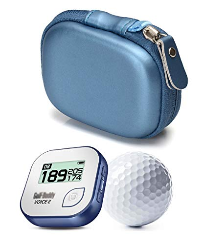 Moonbeam Protective case for Golf GPS for GolfBuddy Voice, Voice 2, Bushnell NeoGhost, Garmin 010-01959-00 Approach G10, Mesh Pouches on Both lid and Base for GPS and Cable Separately