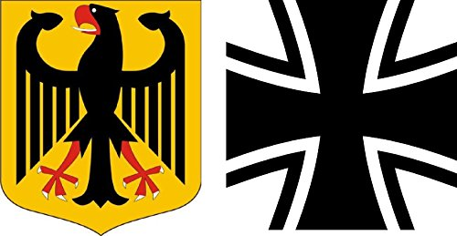 Aufkleber Set : Deutschland Wappen Adler + Bundeswehr Sticker Autoaufkleber