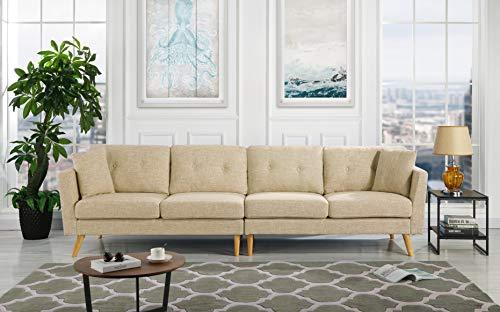 Upholstered Large Fabric Sofa, 114.9