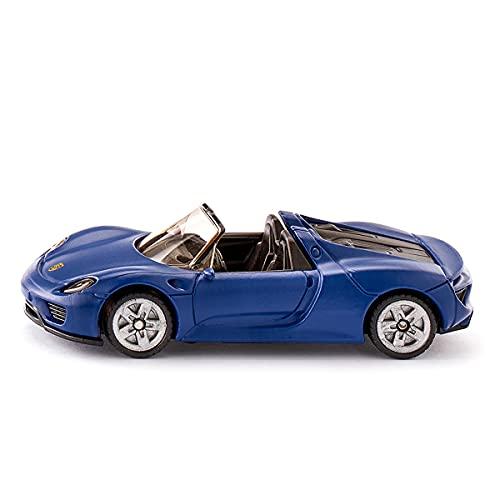 siku 1475, Porsche 918 Spyder, Metal/Plástico, Vehículo de juguete para niños, Azul, Ruedas de goma