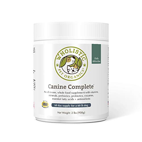 Wholistic Pet Organics Canine Complete: Dog Multivitamin for Total Body Health - Dog Supplement with...