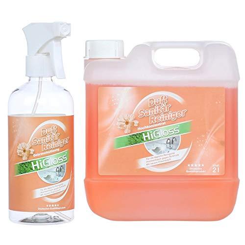 HiGloss Duft-Sanitärreiniger-Set 2 Liter + Zubehör
