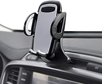 Crazefoto Car Phone Holder  with Three-Side Grips and One-Touch