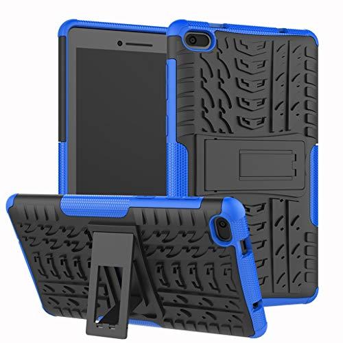 Für Lenovo Tab E7 Hülle, Colorful [Heavy Duty] Rugged Armor stoßfest Handy Schutzhülle Silikon Tasche Ständer Hülle Hülle mit Standfunktion für Lenovo Tab E7 (Blau)