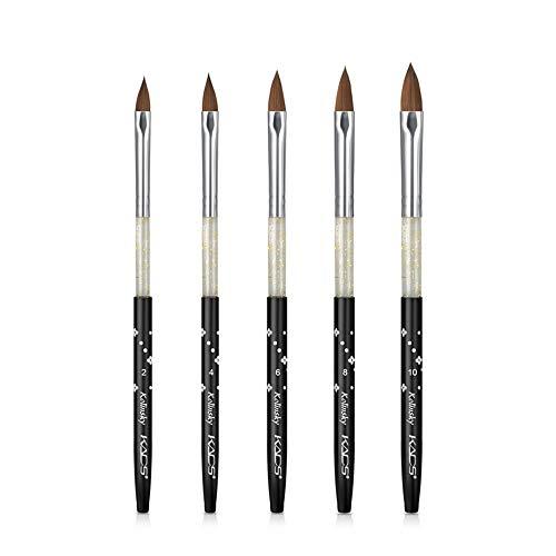 Kads - Juego de 5 pinceles para uñas, juego de pinceles para decoración de uñas, para diseño profesional, pinceles para pintar en detalle, con lápiz corrector