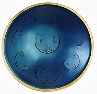 RAV Vast 2 B Celtic Minor - Metal Handpan Drum - 9 Notes Steel Hand Drum - Hang Drum with Soft Case and Three Mallets - 20 inches