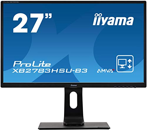 "iiyama ProLite XB2783HSU-B3 68,6cm (27"") AMVA+ LED-Monitor Full-HD (VGA, HDMI, DisplayPort, USB2.0) Höhenverstellung, Pivot, schwarz"