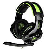 SADES Gaming Headset with Mic for PS4 PS5 Xbox One PC Playstation 4 Xbox 1 Noise Cancelling Over Ear Headphones with Microphone for Xbox One PC Laptop Mac(Green)