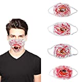 Halloween Noctilucent Face Mask, Grow in The Dark Mask Reusable Comfortable & Washable for Men Women