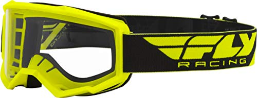 FLY Racing Adult Focus Goggles for Motocross, Off-road, ATV, UTV, and More (HI-VIS with Clear Lens)