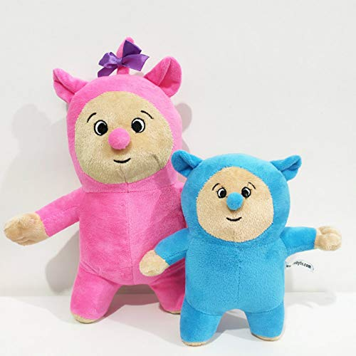 zcm Juguete de Peluche 2pcs 20cm / 28cm Baby TV Billy and Bam Cartoon Plush Figure Toy Soft Stuffed Doll For Kid Birthday