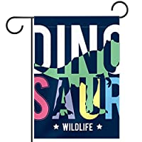 ガーデンフラッグ、庭の旗、デコヤードバナー農家の装飾恐竜の野生生物 垂直バナー28x40インチ
