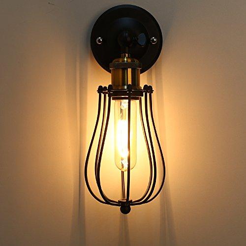 Rétro Metal Murale Applique Luminaire Antique Murale Applique Cage Finition de Laiton Industriel Supensions Luminaire Plafonnier Lumiere Vintage Edison Lampe Douille E27