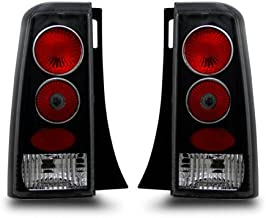 SPPC Taillights Black Assembly Set For Scion Xb - (Pair) Driver Left and Passenger Right Side Replacement