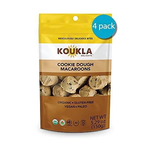 Koukla Delights – Cookie Dough Macaroons, Organic, Gluten-Free, Non-GMO, Vegan, Paleo, Kosher Bites 5.29 oz (Pack of 4)