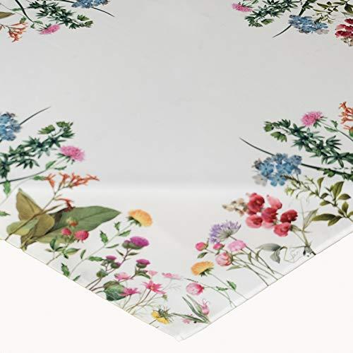 Kamaca Serie Sommerblumen mit dekorativen Blumen EIN Eyecatcher in Frühling Sommer (Mitteldecke 85x85 cm)