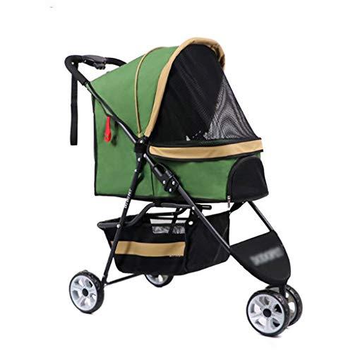 MCSHGPETY Carrito para Perros Mochila Mascota Perro Gato Buggy Carrito silleta 3...