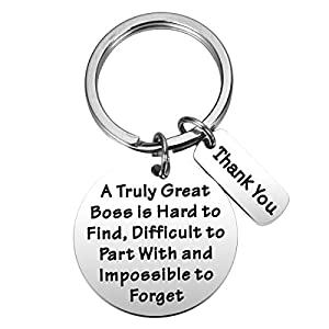 Making a very thoughtful expression of gratitude and appreciation for anyone special in your life, e.g., boss, teacher, childcare provider, volunteer, friend, family member, and more! Boss's Day Gift: A truly great boss is hard to find difficult to p...