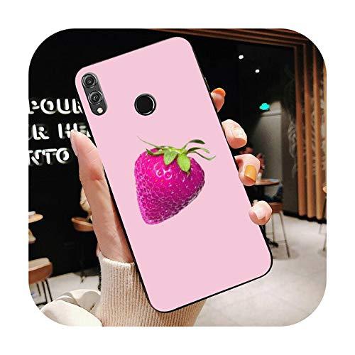Happy-horse fruta leche fresa arte teléfono caso para Huawei Honor 8X 8A 9 10 20 Lite 30Pro 7C 7A 10i 20i-a1-Para honor 10i 20i 20i