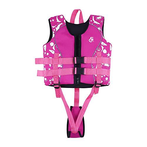 Kinder Schwimmweste, Mädchen Jungen Schwimmhilfe, 8-10 Jahre, 25-30 kg (Rosa Pink)