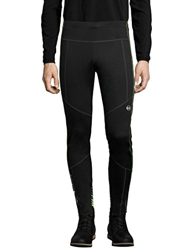 Ultrasport Herren Advanced Avers Ski-Langlauf-Hose, Schwarz/Neon gelb, XL