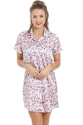 Seidiger Satin Nachthemd Verschiedene Farben und Drucke für Damen von Camille 44 Floral