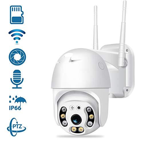Überwachungskamera Außen,355° Drehen Kamera IP Dome kamera , 1080P HD outdoor Kamera,Zwei Wege Audio 60m IR-Nachtsich, IP66 wasserfest, Intelligente Bewegungsüberwachung,Unterstützung 32G SD Karten